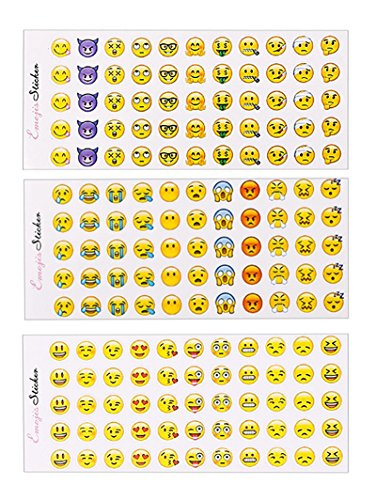 GREATLOVE 660pcs Emoji Emoticons Stickers, Smile Expression Winks, Emoticons, Emoticons, Emoticons, Let the Kids Prefer Fun for Birthday Parties, Prizes, Decorations and Classrooms