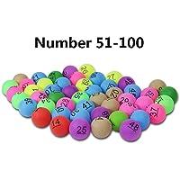 Househome - Pelotas de Tenis de Mesa, Bolas Ping Pong, Bolas avanzadas de Ping-Pong, Bolas Coloridas de Entretenimiento con número para Juegos Divertidos, Publicidad y Dibujo de la Suerte (50 Piezas)