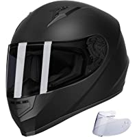 $57 » GLX Unisex-Adult GX11 Compact Lightweight Full Face Motorcycle Street Bike Helmet with…