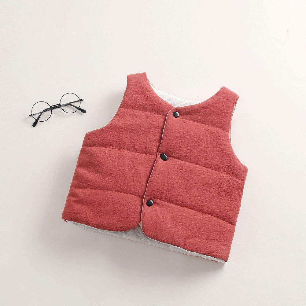 M/&A Little Boys Girls Lightweight Packable Puffer Vest