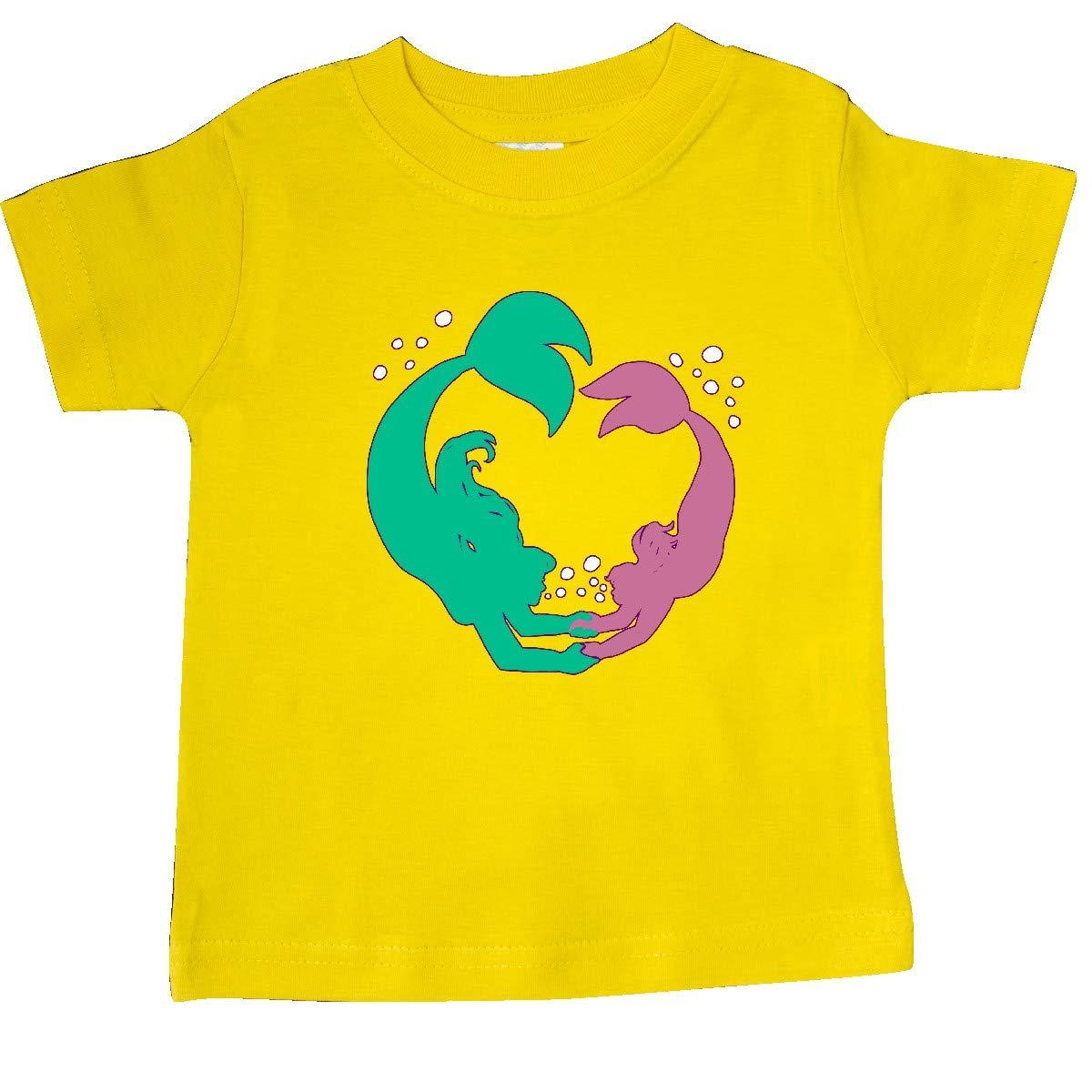 inktastic Teal and Pink Mermaid Dive-Swimming Mermaids Baby T-Shirt