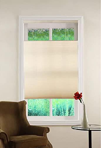 Top Down Bottom Up Ivory Cordless Honeycomb Cellular Shade 36Wx64L