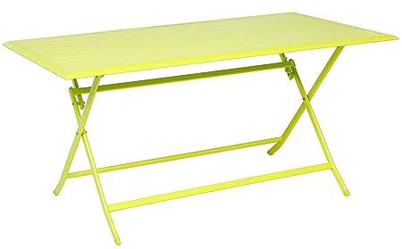 Mesa plegable rectangular de aluminio Coloris Granny - Dim: L 150 ...