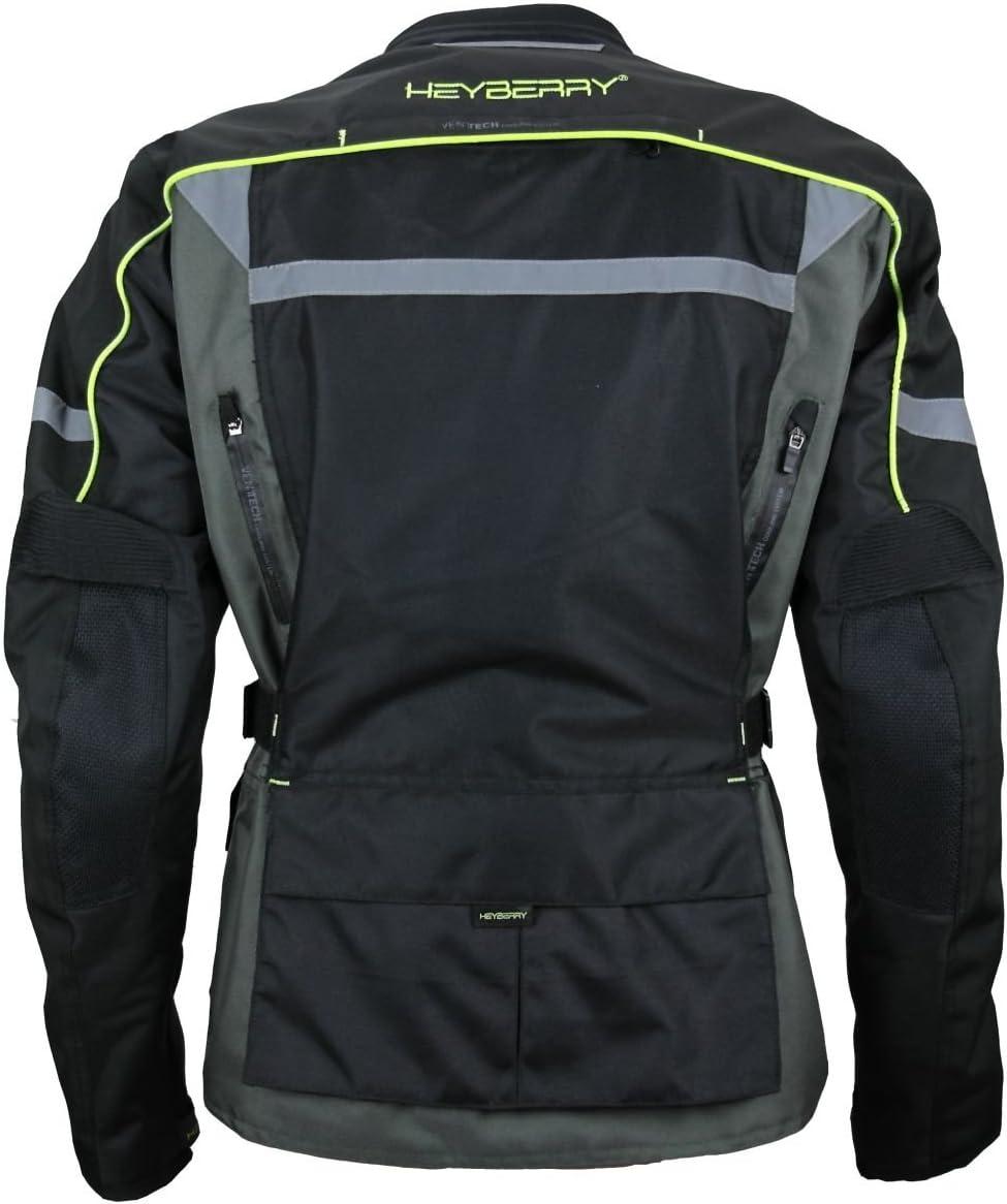 M Heyberry Enduro Motorradjacke Textil schwarz grau neon Gr