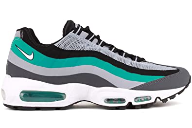 731ac7077dfe Nike Men s Air Max 95 No-Sew Dark Grey White Turbo Green