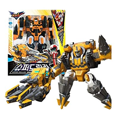 Tobot V YoungToys Super Driller Transforming Robot Figure Vehicle Toy for Boys (Single Product): Toys & Games