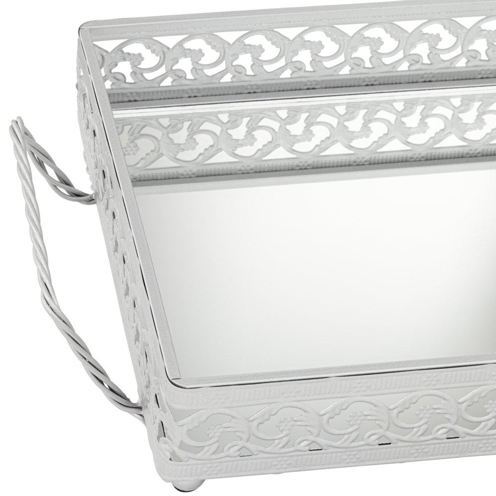 Amazon: Alexis Silver Mirror Vanity Tray: Home & Kitchen