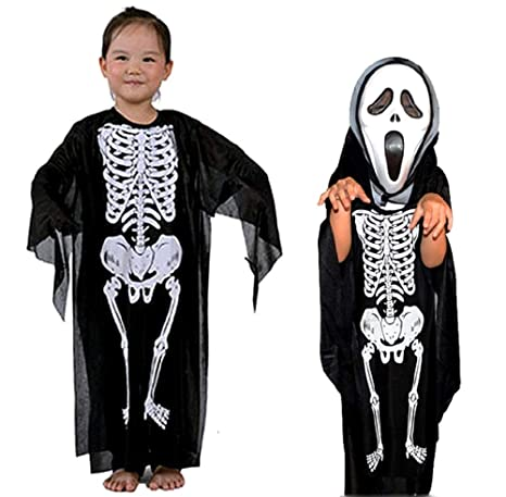 Disfraz de esqueleto - Zombi - Disfraz infantil - Halloween ...