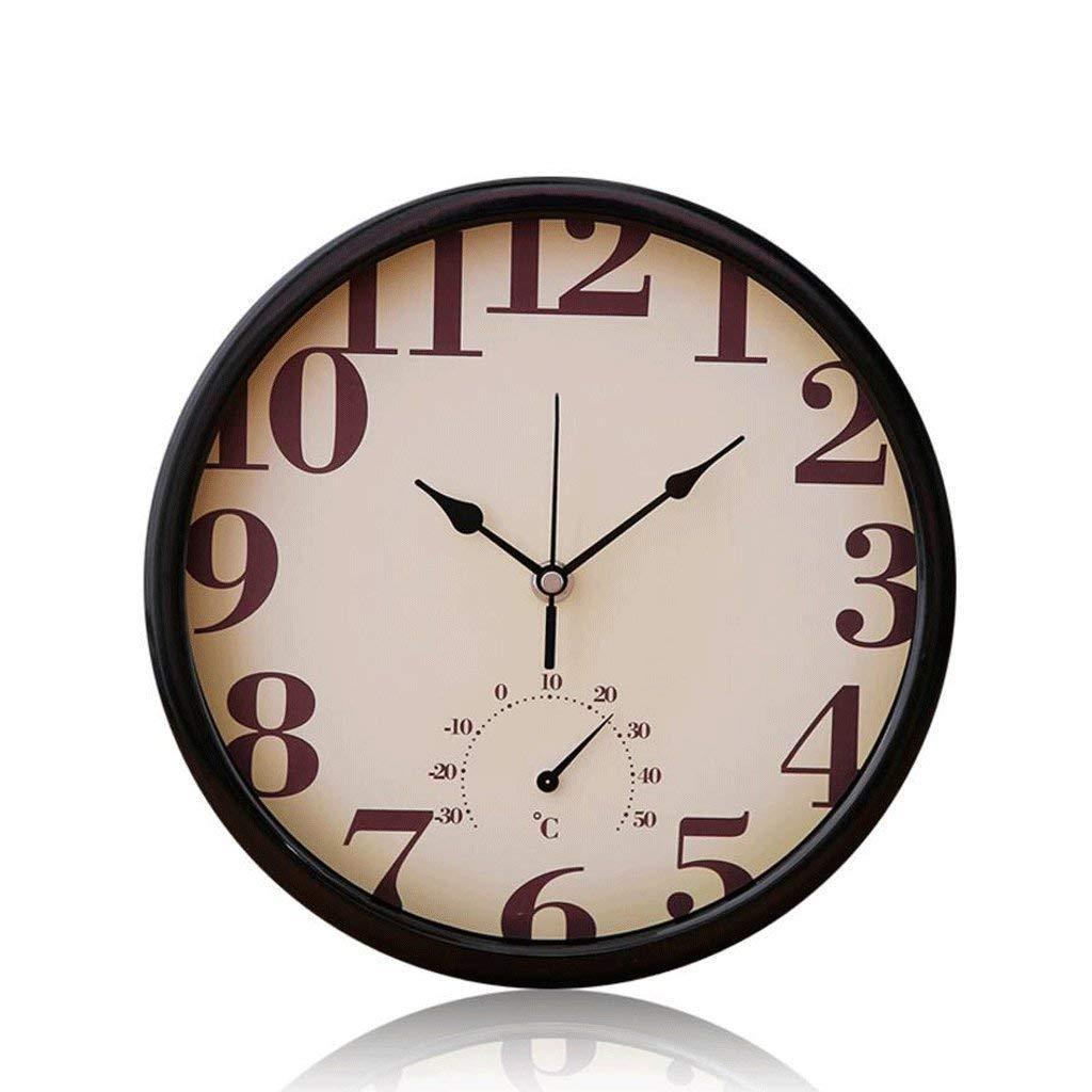 家の装飾 掛け時計 レトロスタイル 時計 ミニマリスト サイレント掛け時計 壁掛け式 無声壁時計の B-18   B07STDB129