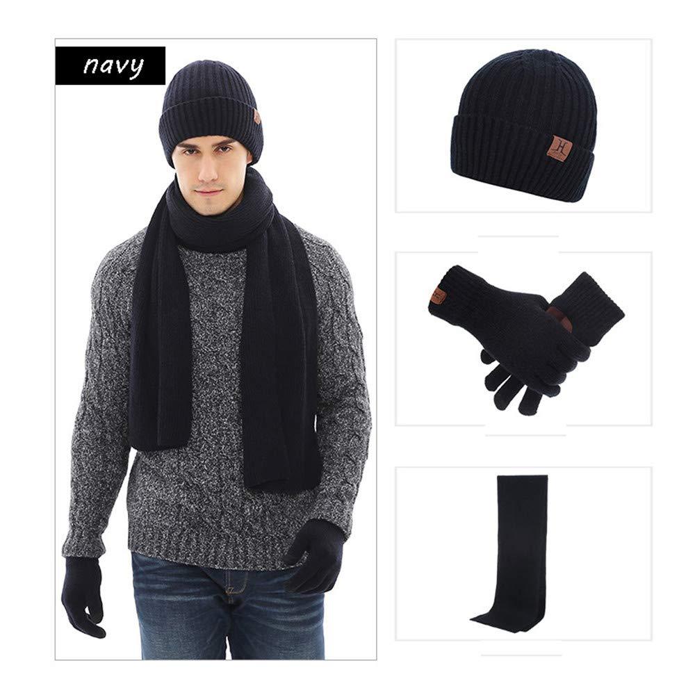 BABYSq Unisex 3 Piece Winter Beanie Hat Scarf /& Glove Matching Set,brown
