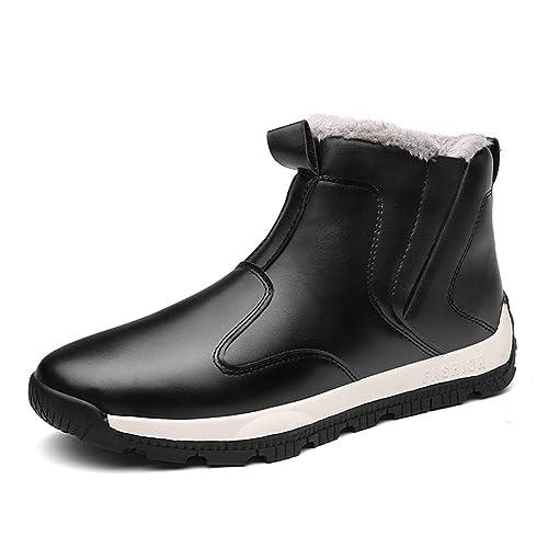 94b225e5c6 Arke Men s Warm Winter Shoe Snow Boot Ankle Sneakers High Top Fashion Sneaker  Black