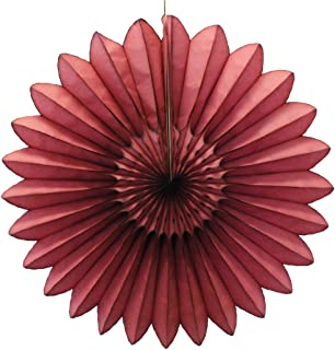 product image for 3-Pack 27 Inch Extra-Large Honeycomb Tissue Paper Party Fanburst Decoration (Maroon)