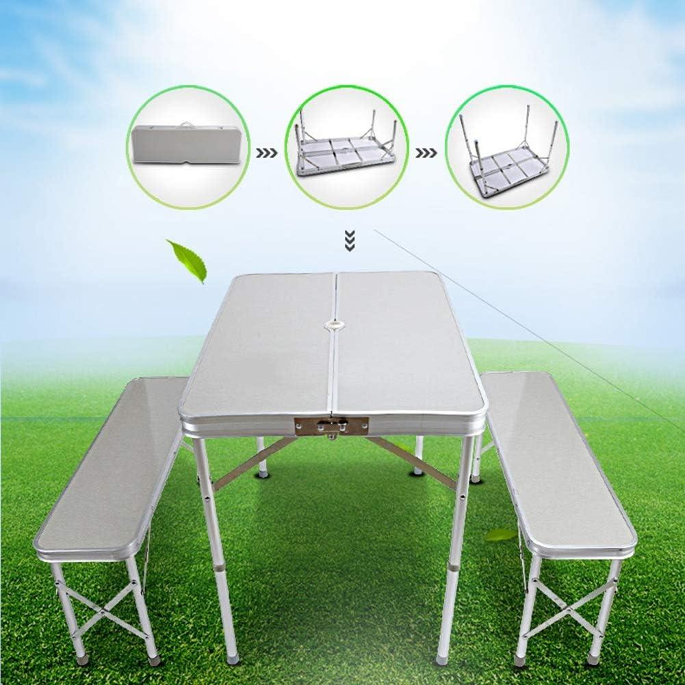 Colore : Bianca Tavolo da Esterno Pieghevole Tavolo da Pranzo E Tavolo da Pranzo Feci Haiming Tavolo da Esterno Tavolo Portatile