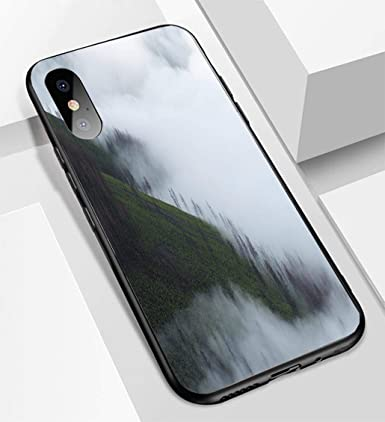 Amazon.com: Foggy Cloudy - Carcasa para iPhone X y XS ...