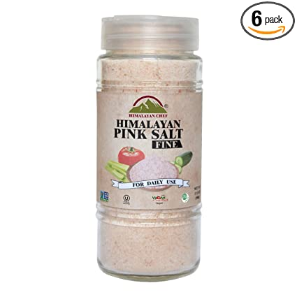 Himalayan Chef Pink Fine Salt Glass Shaker And Jar 17 5 Ounce Pack Of 6 Amazon Com Grocery Gourmet Food