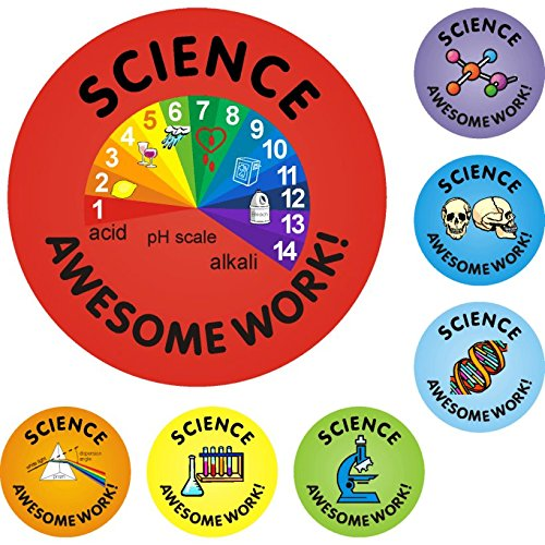140 Science Awesome Work Reward Stickers