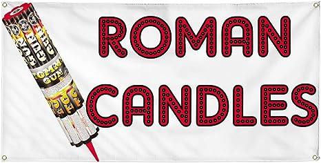Amazon.com: Vinyl Banner - Cartel de velas romanas para ...