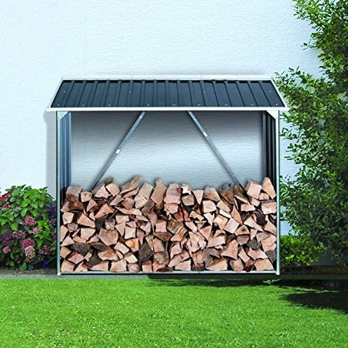 Ezooza WoodStorage 6x 2 de Duramax 166 x 63 x 160 cm en acier galvanis/é anti-corrosion couleur anthracite