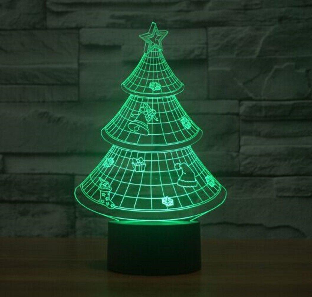 LED Night Lamp - Kids Desk Room Christmas Tree Art Sculpture Lights ...