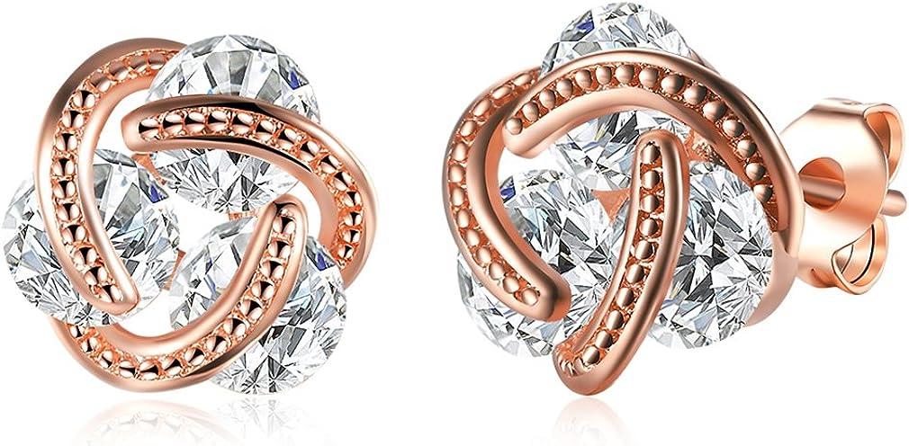 Gold Plated Stud Earrings, Hypoallergenic & Nickel Free Earrings for Women