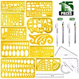 Keadic 15 Pieces Curve and Template Ruler Kit