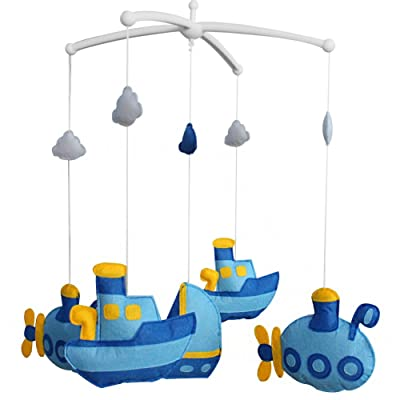 Cute Crib Mobile Infant Bed Hanging Bell Crib Musical Toy Boat : Baby