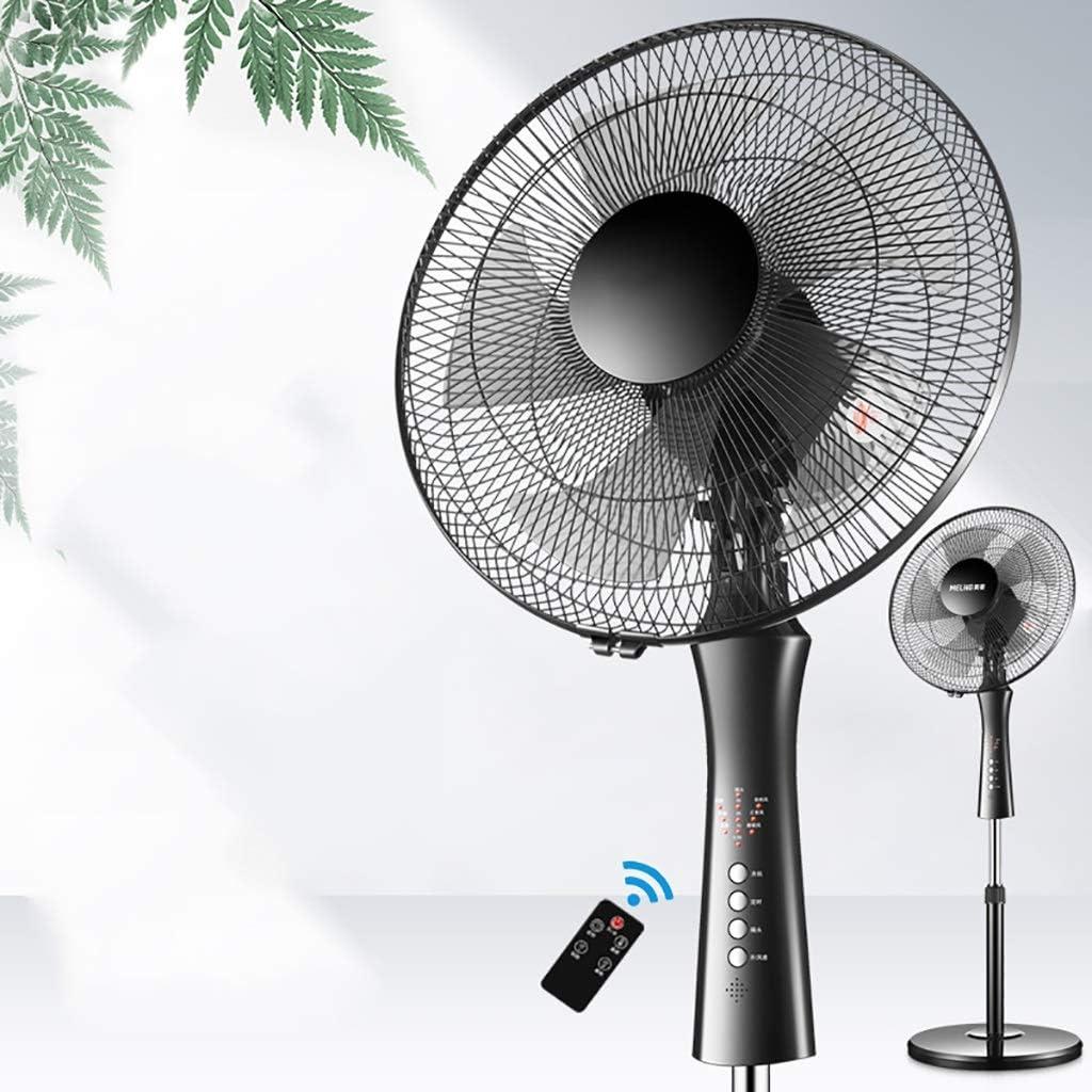 Ventilador de pie para huracanes de la industria metalúrgica, ventilador de pedestal oscilante con altura ajustable y control remoto, ventilador de piso de pie 5 cuchillas 3 configuraciones de velocid