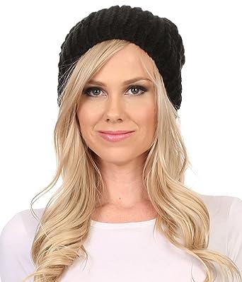 89acd4e705b Sakkas CHSS1545 - Lax Wide Unisex Cable Knit Large Pom Pom Bobble Beanie  Hat Cap -