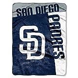 San Diego Padres MLB LOGO STRIKE Raschel PLUSH 60x80 Twin Size Throw/Blanket