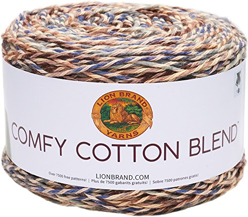 Lion Brand Yarn 756-710 Comfy Cotton Blend Yarn, Driftwood (Lions Drapes)