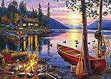 Buffalo Games - Darrell Bush - Canoe Lake - 300 Large Piece Jigsaw Puzzle