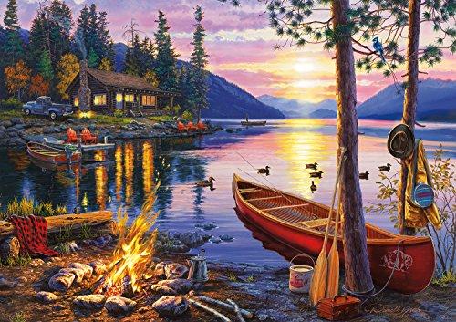 Buffalo Games - Darrell Bush - Canoe Lake - 300 Large Piece Jigsaw Puzzle by Buffalo Games