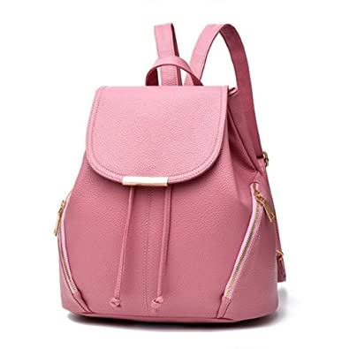 JSPM New Women Leather Backpacks Students School bags for Girls Teenagers  Travel Rucksack Black Color Small Shoulder Bag  Amazon.in  Shoes   Handbags ea49fc4815c54
