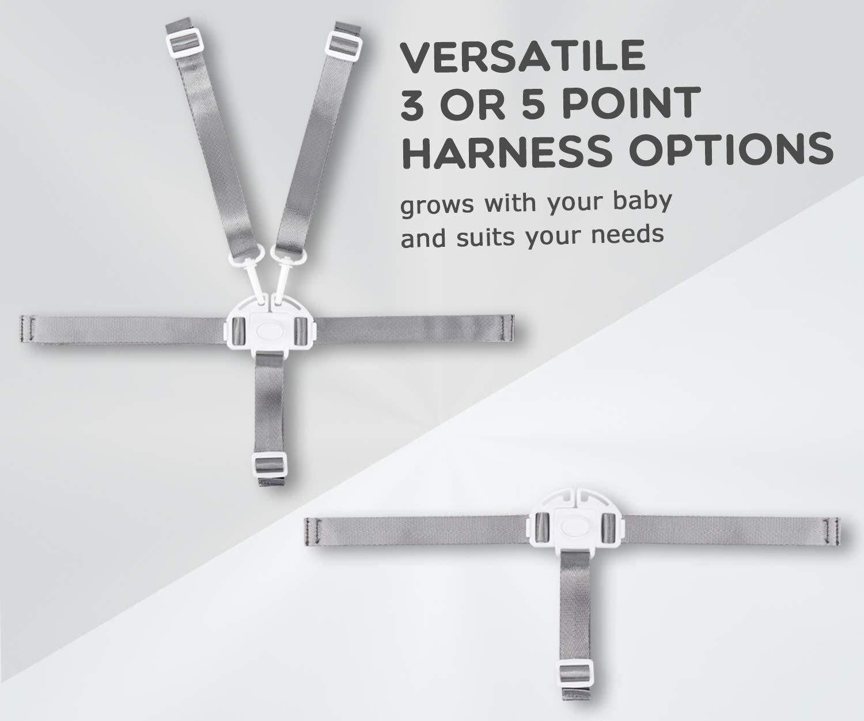 arn/és de 5 puntos,arn/és universal para silla alta,Cintur/ón de Seguridad del Beb/é,Arn/és Silla Beb/é 5 Puntos Cintur/ón Blanco