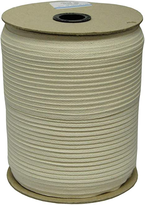 Multiple Widths /& Yardages Available 72 Yards Medium Weight - USA Made 1//2 White Cotton Twill Tape