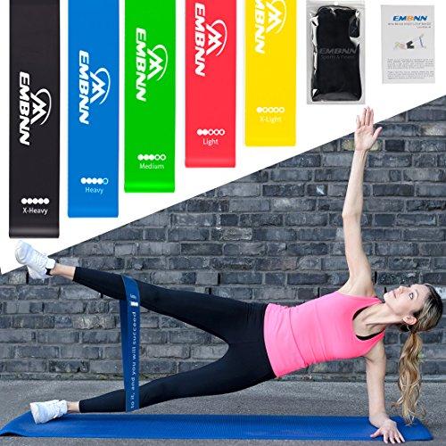 EMBNN  Resistance Loop Exercise Bands Home Fitness, Yoga, Pi