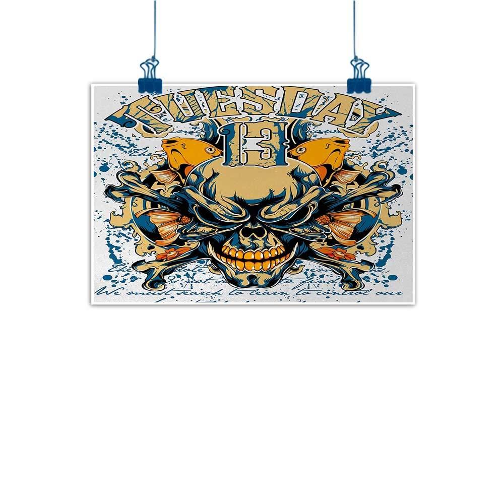 color17 36 x24  (90cm x 60cm) Mangooly Home Wall Decorations Art Decor Silver,Symmetrical Floral Motifs with Victorian Antique Tile Design Abstract Flourish Theme,Tan White Home Decor Prints Posters
