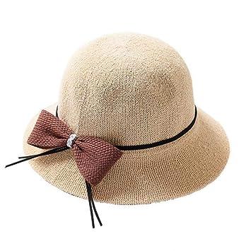 ZXCVBM Gorra para Mujer Corbata De Lazo De Color Sólido Sombreros ...