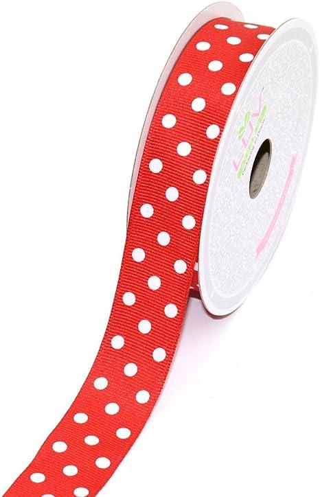 "5 Yards Blue Pink Polka Dot Polkadot Grosgrain Ribbon 7//8/""W"