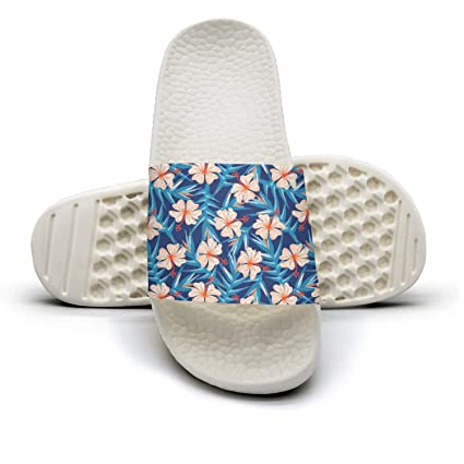 a3549a687 Tropical Ginger Embroidery Floral Womens Outdoor Bath Slides Non-Slip Flip  Flop Fashionable Sandals
