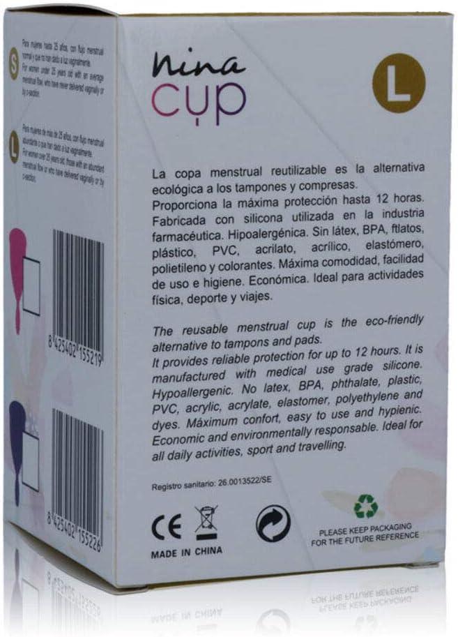 Nina Kikí Copa Menstrual, Talla L, Rosa - 100 gr: Amazon.es ...