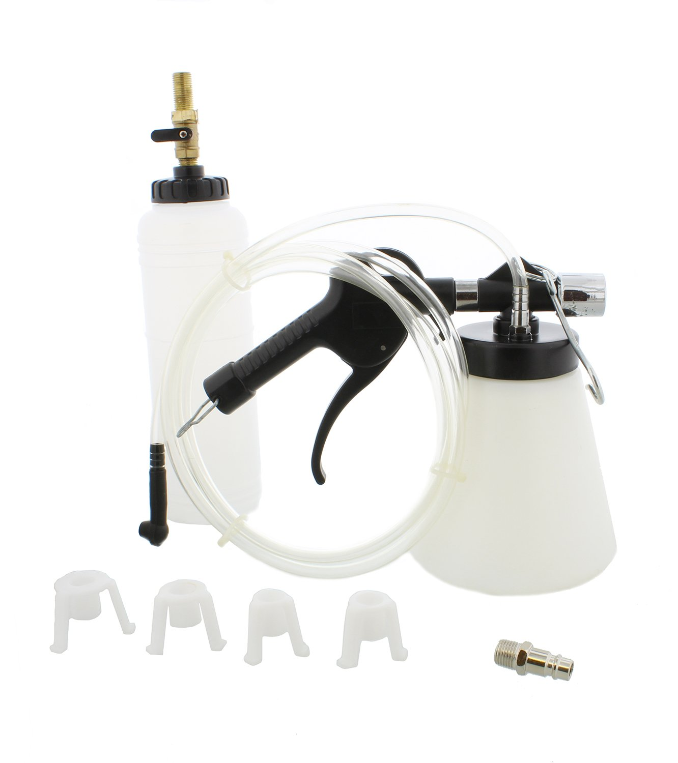 ABN Pneumatic Vacuum Brake and Clutch Bleeder Kit, 0.75 Liter - Master Cylinder 90-120 PSI Air Pressure Fluid Bleed Tool