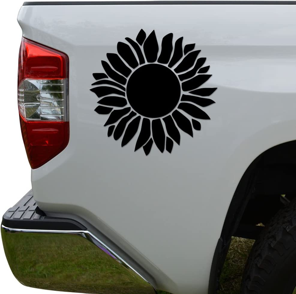 StickAny Car and Auto Decal Series Hibiscus Blossom Sticker for Windows Red Doors Hoods