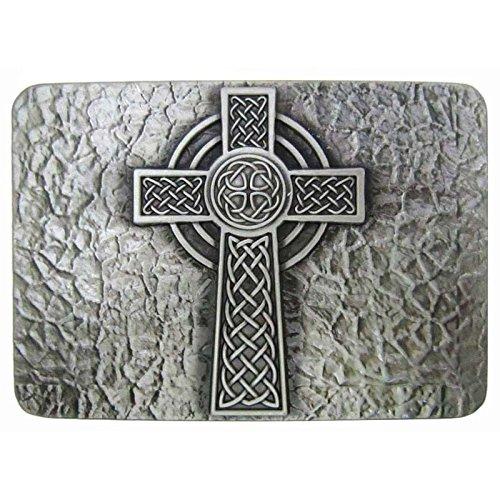 Celtic Renaissance Cross Vintage Horseman Prayer Celtic Iron Cross Skull Cowboy Lot Leather Belt Buckle