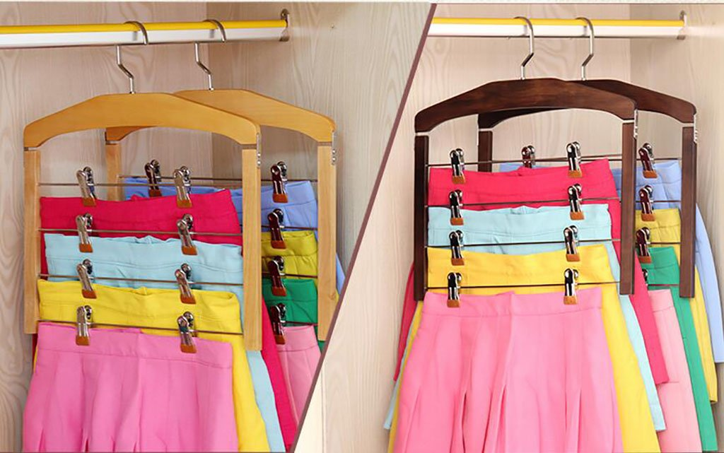Ymj Clothes Racks Solid Wood Hangers Seamless Anti - Skid Trousers Racks (one Cloths Rack) (Color : 2) by Ymj (Image #5)