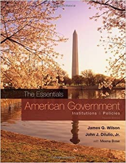 Book American Government by WILSON//DILLULIO (2010)
