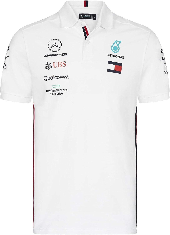 Mercedes AMG Petronas Motorsport 2019 F1™ Mens Polo Shirt Black ...