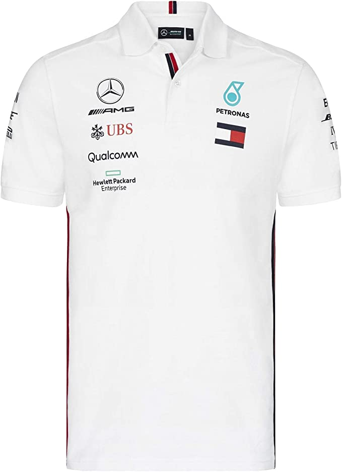 Mercedes AMG Petronas Motorsport 2019 F1™ Mens Polo Shirt Black ...