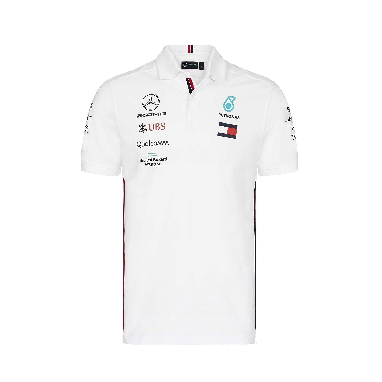 Mercedes AMG Petronas Motorsport 2019 F1TM Mens Polo Shirt Black ...