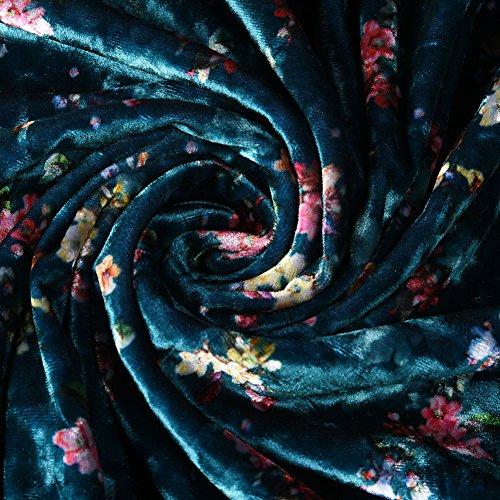 cotyledon Dresses Neck 4 Size Women's Sleeve 3 V Blue Printed Plus rEIPrwxqA